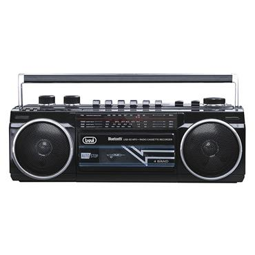 Trevi Portable Radio and Cassette with Bluetooth - Black | TRE0RR50100