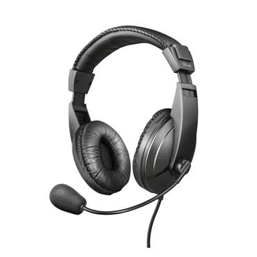 Trust Quasar Over Ear Headset with Microphone for PC or Laptop | T21661