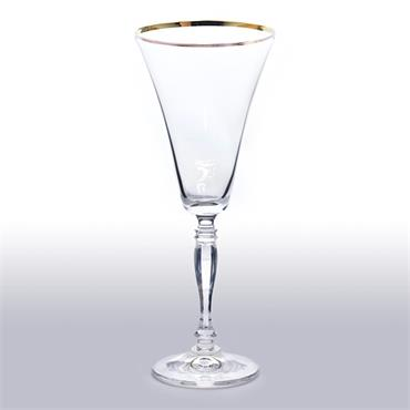 Gold Rim Wine Glass 30cl/10.5oz (20 Glasses)