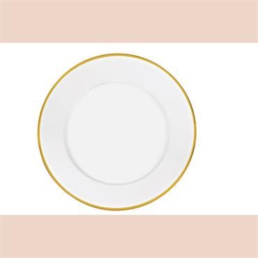 """Gold Rim Glass Charger plate 12""""/30.5cm"""
