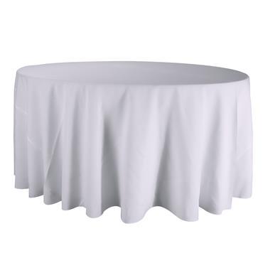 """Round Linen  Cloth  White 120"""""""