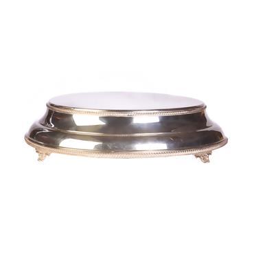 "Cake Stand Silver Circular  15"""
