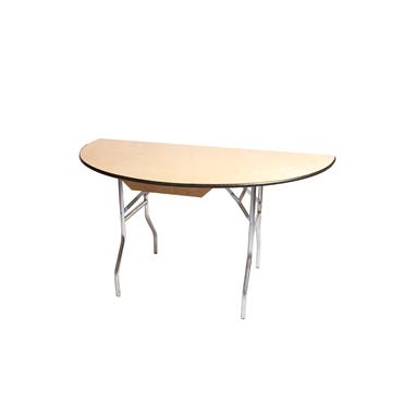 Half  5ft  Round Table