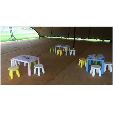 Children's Furniture Set (1 Table & 4 Stools)