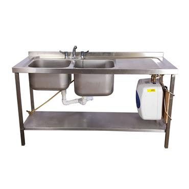 Sink Double (comes with hot water immersion)