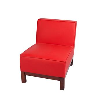 """Milan Red  Modular Single Seater (22""""/55cm)"""