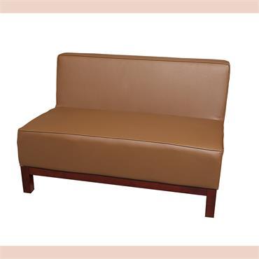 """Milan Brown Sofa 2 Seater (44""""/110cm)"""