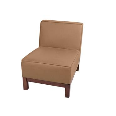 """Milan Brown Modular Single Seater (22""""/55cm)"""