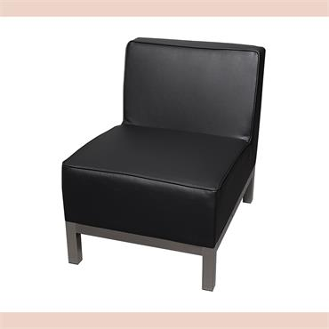 """Milan Black Modular Single Seater (22""""/55cm)"""