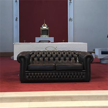 Chesterfield Brown 3 seater **NEW** (200 w x 90 d x 80 h)