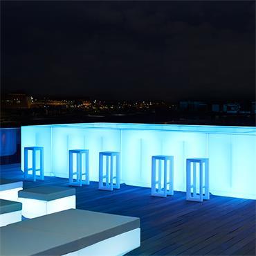 """Venetian LED Bar Corner unit  100cm/40"""" l & w x 115cm/46"""" h (comes with 2 shelves)"""