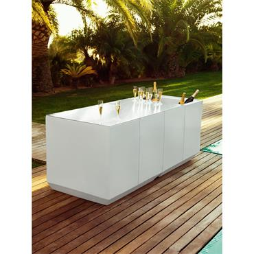 "Venetian LED Reception/Bar table with Ice bucket 200cm/79"" l x 80cm/32"" w x 80cm/32""h"