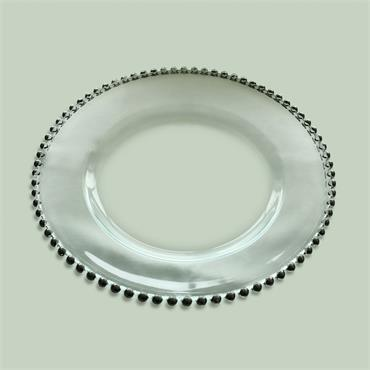"Silver Beaded Charger Plate 13""/34cm"