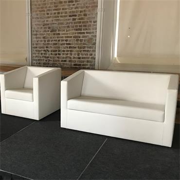 """Miami Sofa - 2 seater white 121cm/48"""" wide"""