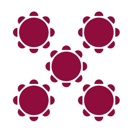 Banquet round style diagram
