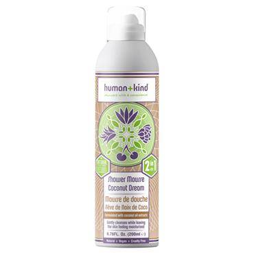HUMAN AND KIND SHOWER MOUSSE COCONUT DREAM 200ML