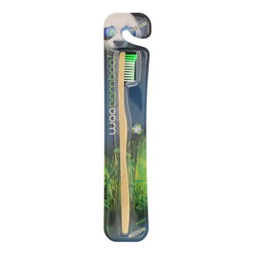 WOOBAMBOO ADULT MEDIUM BAMBOO TOOTHBRUSH ADULT