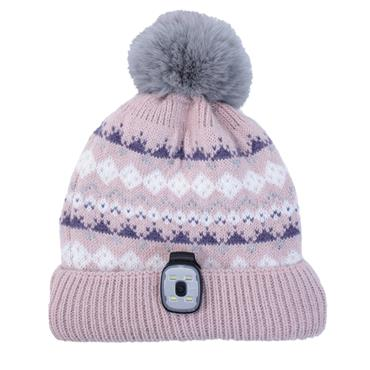 REVERSIBLE HAT & LED TORCH PINK