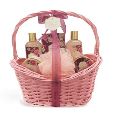 IDC WILLOW 6PCE COUNTRY ROSE SCENTED BASKET