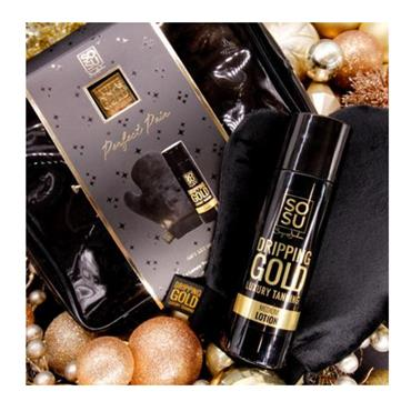 SOSU DRIPPING GOLD PERFECT PAIR DARK MOUSSE BAG GIFT SET  1PACK SOSU5219