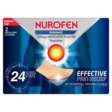 NUROFEN DURANCE 200MG MEDICATED PLASTERS 2S