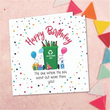 Birthday Bin Card