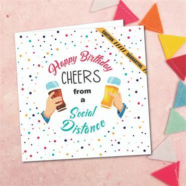 """Cheers"" Birthday Card"
