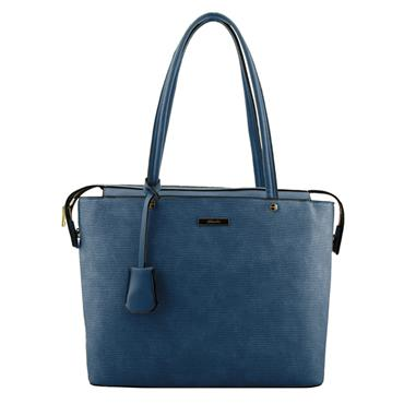 ZULU DOUBLE HANDLE TEXTURED LARGE CITY TOTE