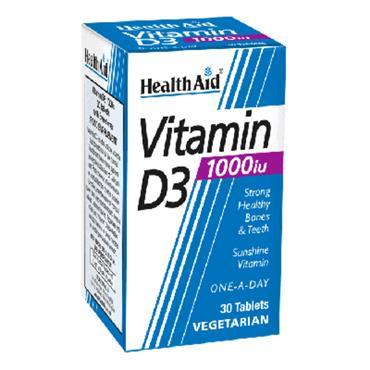 HEALTHAID VIT D 1000IU TABS 30 TABS