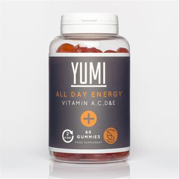 YUMI HEALTH ALL DAY ENERGY GUMMIES 60 CAPS