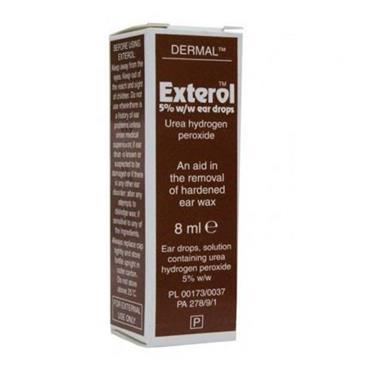 EXTEROL EAR DROPS 8ML