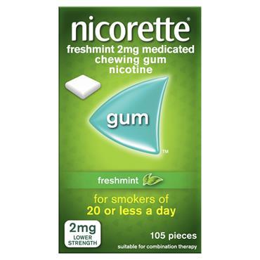 NICORETTE GUM FRESHMINT 2MG 105