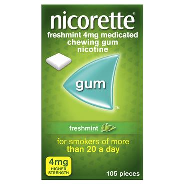 NICORETTE GUM FRESHMINT 4MG 105