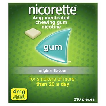 NICORETTE GUM CLASSIC 4MG GMS ONLY 210