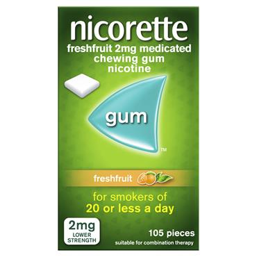 nicorette freshfruit 2mg 105 pieces