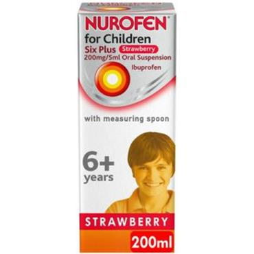 NUROFEN SIX PLUS STRAWBERRY 200ML