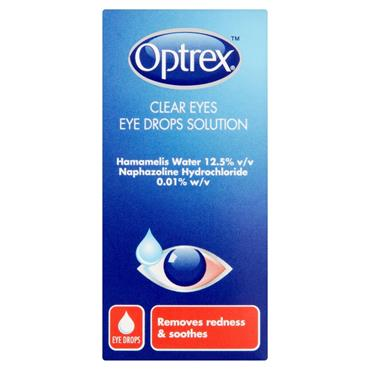 OPTREX CLEAR EYES  REMOVES REDNESS AND SOOTHES 10ML