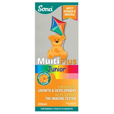 SONA MULTIPLUS JUNIOR WITH IRON 200MLS