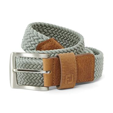FootJoy Gents Braided Belt Regular Grey