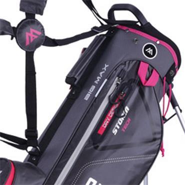 Big Max Dri Lite 7 Stand Bag  Charcoal - Fuchsia
