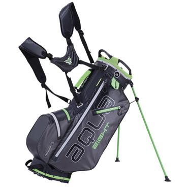 Big Max Aqua 8 W/P Stand Bag  Charcoal Black Lime