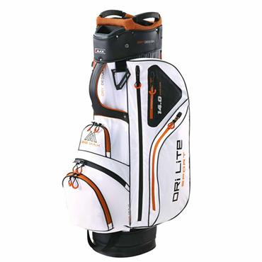 Big Max Dri Lite Sport Cart Bag  White-Black-Orange