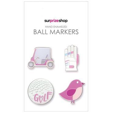 Surprizeshop Girly Ball Marker Set  Multicolour