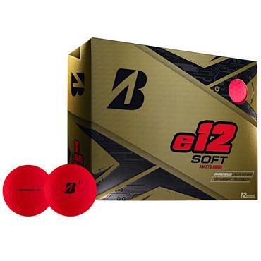 Bridgestone E12 Soft Golf Balls  Matte Red
