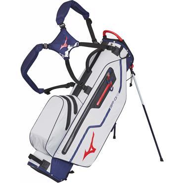 Mizuno BR DRI W/P Stand Bag 5 way divider  Blue Silver Red