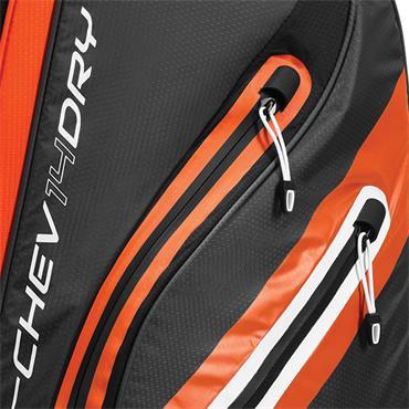 Callaway Chev Dry 14 Cart Bag  Charcoal/Orange