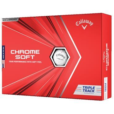 Callaway Chrome Soft Triple Track Balls  White