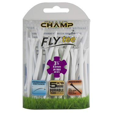 """Champ Fly Tee 3 1/4"""" Tees 25-Pack  White"""