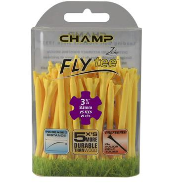 """Champ Fly Tee 3 1/4"""" Tees 25-Pack  Yellow"""