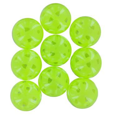Golfers Club Collection Airflow Practice Balls 9-Pack PB03M  Yellow